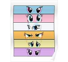 My Little Pony Eye Expressions Poster
