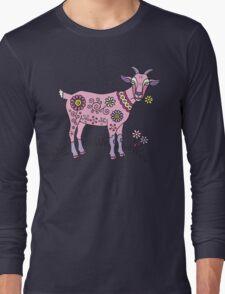 Pink Goat Long Sleeve T-Shirt