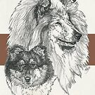Collie - Rough - Father & Son by BarbBarcikKeith