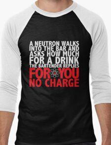 A Neutron Walks Into A Bar Men's Baseball ¾ T-Shirt