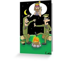 """Humor In Uniform"" funny Miltary joke card. Greeting Card"