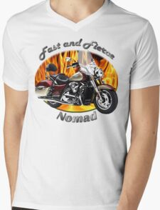 Kawasaki Nomad Fast And Fierce Mens V-Neck T-Shirt