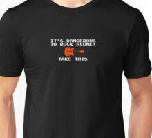 It's dangerous to rock alone Zelda gaming t-shirt metal shirt Unisex T-Shirt