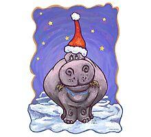 Hippopotamus Christmas Photographic Print