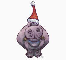 Hippopotamus Christmas by Traci VanWagoner