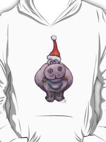 Hippopotamus Christmas T-Shirt