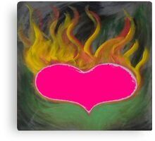 the flaming heart Canvas Print