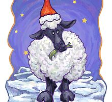 Sheep Christmas Card by Traci VanWagoner