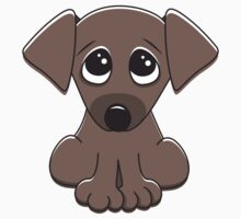 Cute cartoon dog with big, begging eyes by MheaDesign
