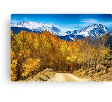 Rocky Mountain Autumn Cruisin Canvas Print