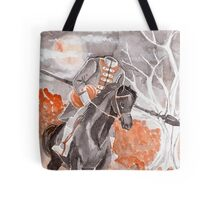 The Headless Horseman Watercolor Painting Tote Bag