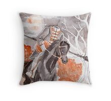The Headless Horseman Watercolor Painting Throw Pillow