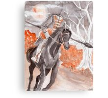 The Headless Horseman Watercolor Painting Canvas Print