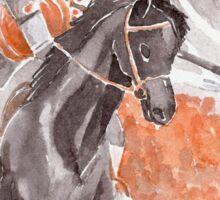 The Headless Horseman Watercolor Painting Sticker