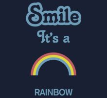 Smile it's a RAINBOW Children's Clothing Kids Tee