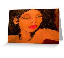 sandra, the magical genie of love Greeting Card