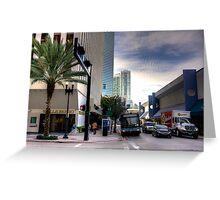 Miami- NE 1st Avenue Greeting Card