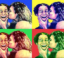 The Kiss PopArt by Nicole Zeug