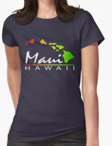 Maui - Hawaiian Islands (Vintage Distressed Look) Womens Fitted T-Shirt