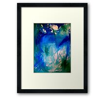 abstract bleu Framed Print