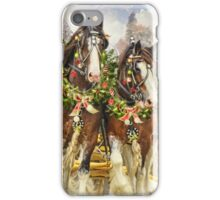 Christmas Clydesdales iPhone Case/Skin