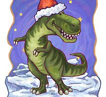 Tyrannosaurus Christmas Card by ImagineThatNYC
