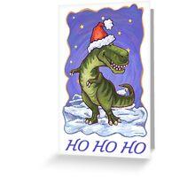 Tyrannosaurus Christmas Card Greeting Card