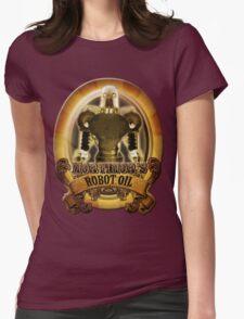 Mortimors Robot Oil. Womens Fitted T-Shirt