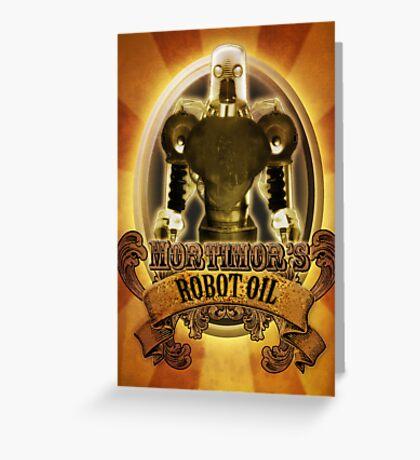 Mortimors Robot Oil. Greeting Card