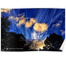 Long Island Sky at Dusk Poster