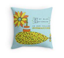 The Yellow Submarine Throw Pillow