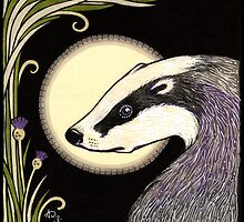 Moon Badger by Anita Inverarity