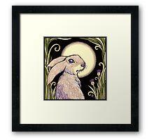 Moon Hare Framed Print