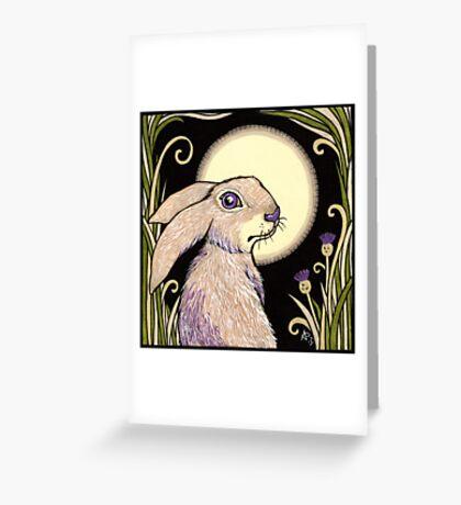 Moon Hare Greeting Card