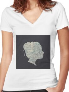 Destinations Women's Fitted V-Neck T-Shirt