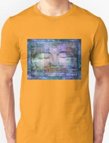Buddha Awakening spiritual art with quotes T-Shirt