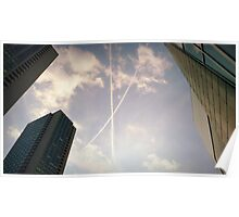 Downtown Boston Sky Poster