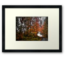 The Last Fall Day ~ Fall Colors ~ Framed Print