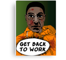 GET BACK TO WORK (Comic version) Canvas Print