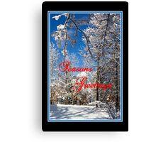Christmas Card 2013 Canvas Print
