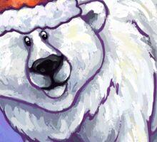 Polar Bear Christmas Sticker
