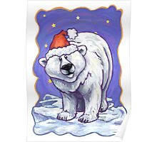 Polar Bear Christmas Poster