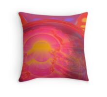 Abstract Digital Painting #33 - Crossed Torus Rampage Throw Pillow