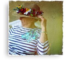 Her hat Canvas Print