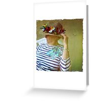 Her hat Greeting Card
