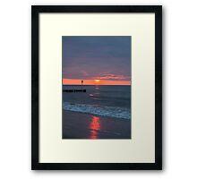 Twilight on a beach Framed Print