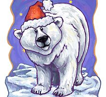 Polar Bear Christmas Card by Traci VanWagoner