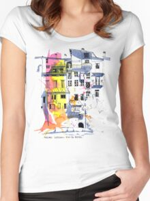 Maisons Suspendu, Pont-en-Royans, France Women's Fitted Scoop T-Shirt