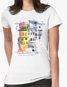 Maisons Suspendu, Pont-en-Royans, France Womens Fitted T-Shirt