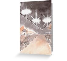 Rural UFO Visit Greeting Card